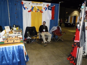 Cornerstone Chilean Mission's booth at the ICOM