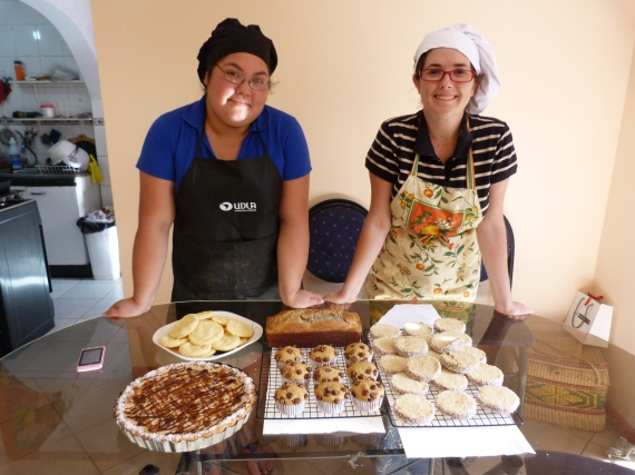 Dany and I spent a day baking gluten-free goods.