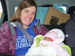 Rachel and newborn daughter, Josefina