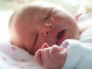 Lydia was born on April 27th, at 10:30 PM. At 8lbs. 7oz., she was a big, healthy girl!