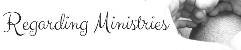 Regarding Ministries